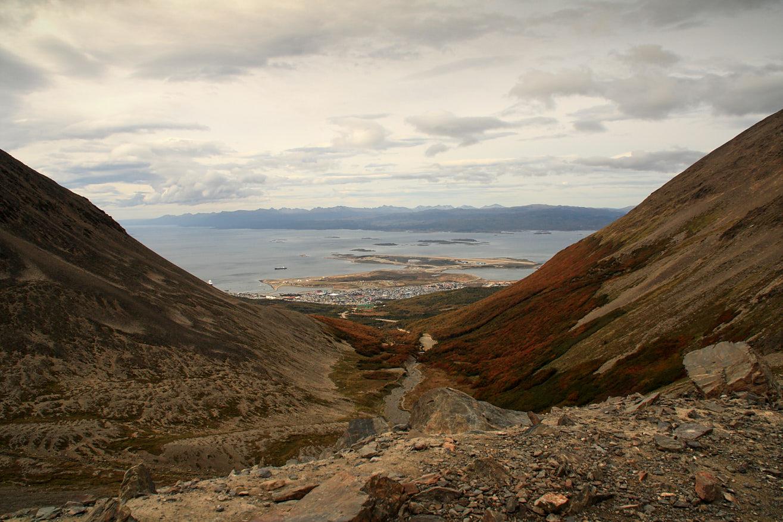 Into Ushuaia.