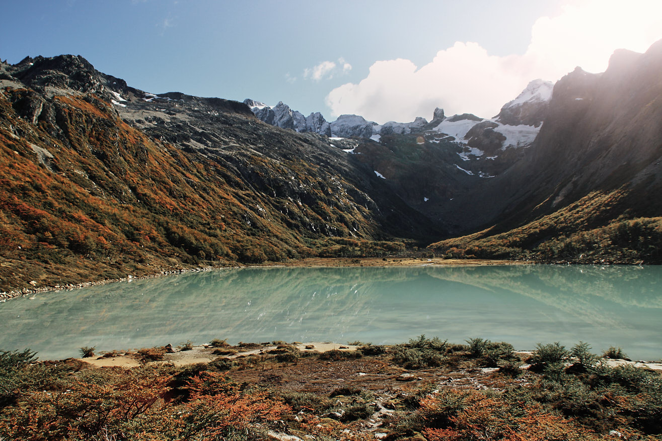 Emerald Lake in Tierra del Fuego.